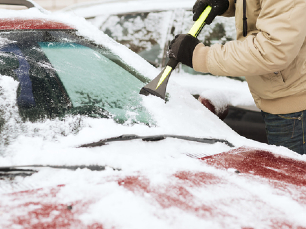Stop Wasting Time Scraping Ice Off Your Windshield